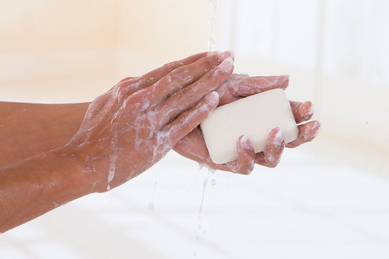 Woman washing her hands (Photo by: BSIP/UIG via Getty Images)