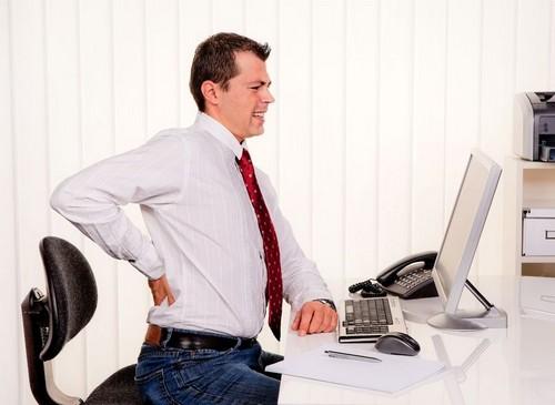 office worker back pain