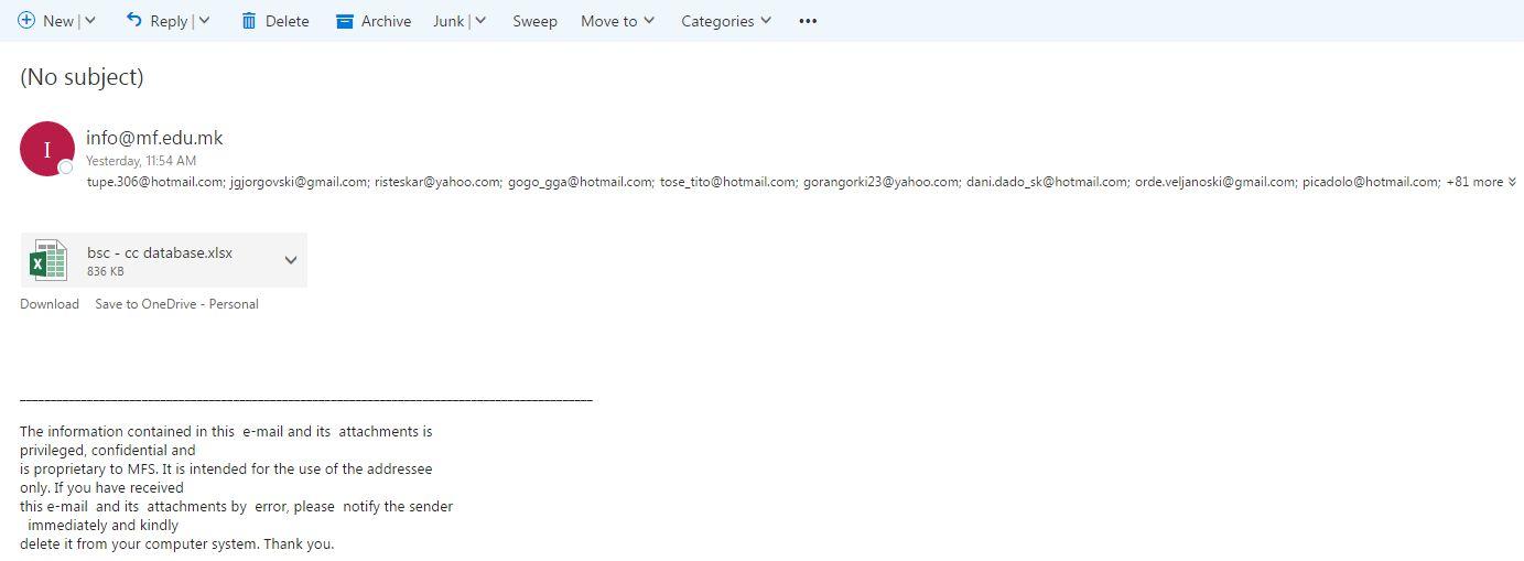 mejl masinski