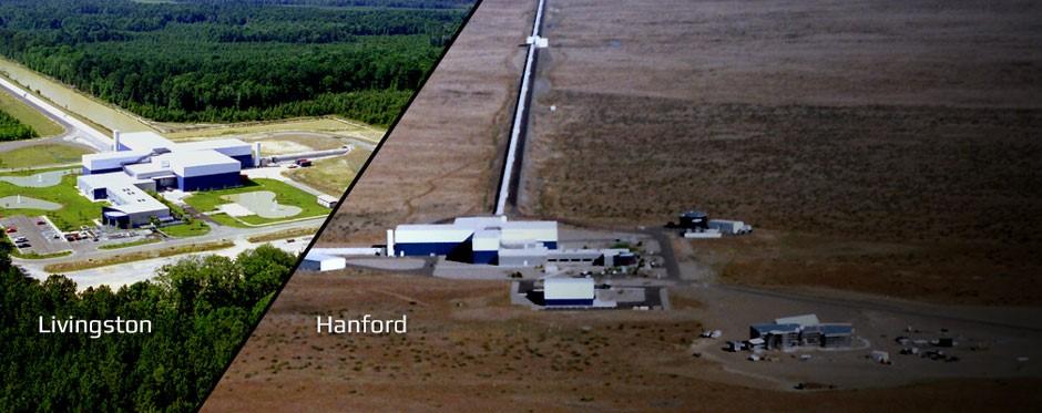 LIGO во Ливингстон и Ханфорд